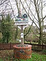 Starston village sign by the bridge over the Beck - geograph.org.uk - 1593246.jpg