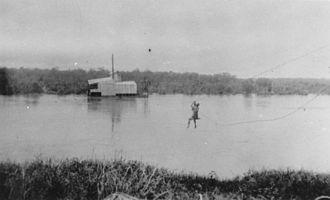 Palmer, Queensland - Gold mining dredge on the Palmer River