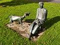 Statue of coal miners domestic goat 1.jpg