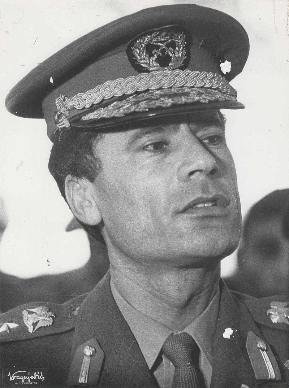 Stevan Kragujevic, Moamer el Gadafi u Beogradu.jpg