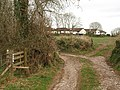 Stile and track, Windmill Copse - geograph.org.uk - 1189075.jpg