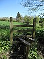 Stile on the footpath above Cascade Wood - geograph.org.uk - 1266317.jpg