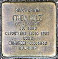 Stolperstein Kaiserdamm 19 (Charl) Frida Holz.jpg
