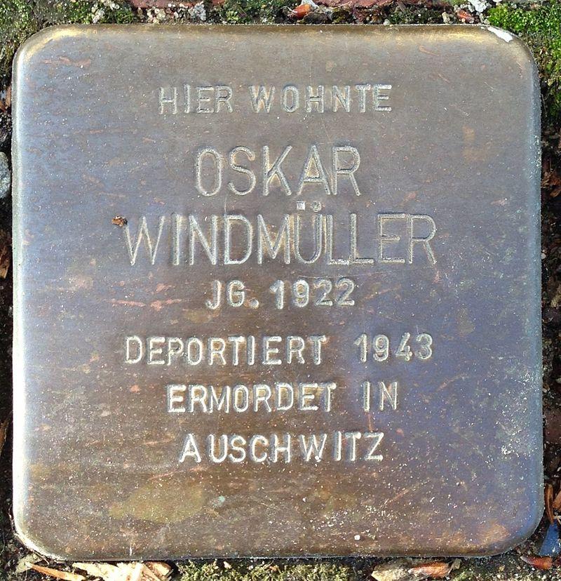 Stolperstein Rodenberg Lange Straße 23 Oskar Windmüller