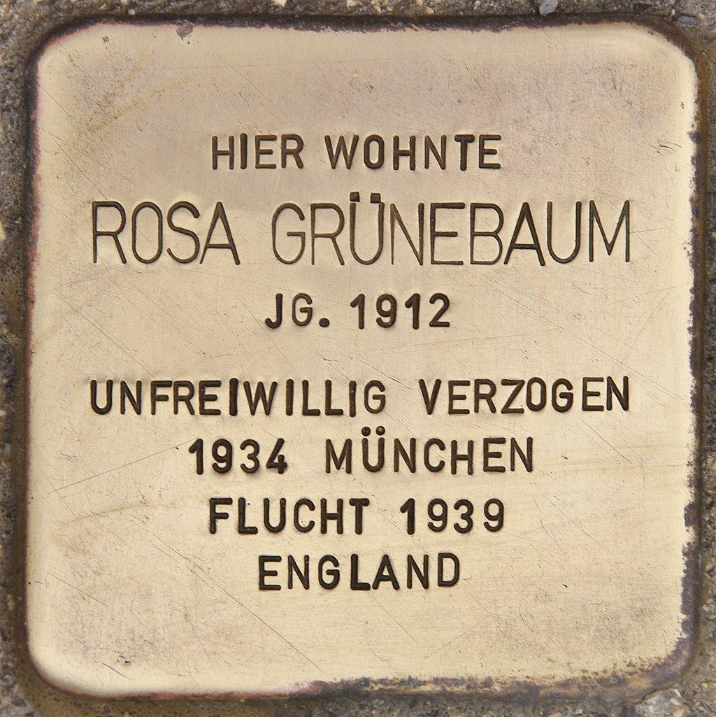 Stolperstein für Rosa Grünebaum (Passau).jpg