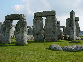 History of England - Stonehenge, erected in several stages from c.3000-1500BC
