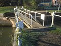 Strensham Lock swing bridge - 2 - geograph.org.uk - 1167210.jpg