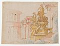 Studies for the trompe-l'oeil decorations of Palazzo Ducale (Palazzo Pitti), Florence MET DP870425.jpg