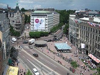 Birger Jarlsgatan - Birger Jarlsgatan passing by Stureplan in 2007.
