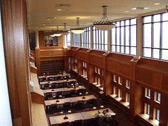 Suffolk University Law School - A law library reading room