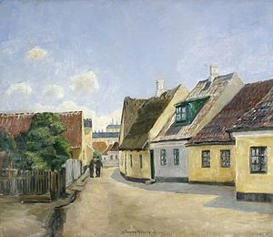 Sundby, Copenhagen - A street in Sundby, probably Islandsgade, painted 1923 by Johan Rohde
