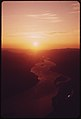 Sunrise over the Columbia River Gorge between the Hood River and the Dalles. Photographed From an Elevation of About 7,000 Feet 05-1973 (4272399988).jpg