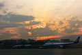 Sunset on Osaka airport (2076394329).jpg