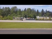 File:Supermarine Spitfire and Curtiss P-40C Tomahawk start-up and fly-by at Paine Field USA May 2010 with sound.ogv