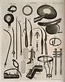 Surgical instruments. Engraving by Andrew Bell. Wellcome V0016379.jpg