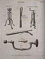 Surgical instruments for trepanning, including a tripod elev Wellcome V0016361.jpg