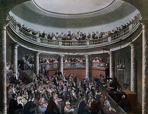 Surrey Institution - Lecture Hall of the Surrey Institution, illustrated by Thomas Rowlandson and Augustus Charles Pugin
