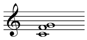 Suspended chord - Image: Sus 4 chord on C