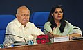 Sushil Kumar Shinde holding a press conference to present the Report Card of the Ministry of Home Affairs for the month of September, 2012, in New Delhi. The Principal Director General (M&C), Press Information Bureau.jpg