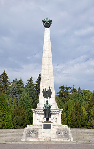 Battle of the Dukla Pass - Memorial of the Dukla Pass battle to Soviet Army in Svidník