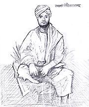 Pencil drawing of Vivekananda