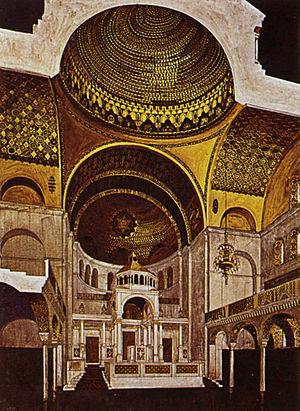 Fasanenstrasse Synagogue - Interior, 1912