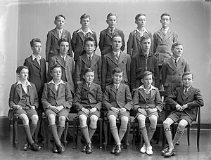 Patrick (Thomas) Burke - Synge Street pupils, c.1941. Patrick (Thomas) Burke is pictured