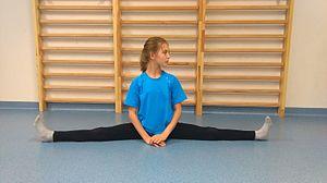 Split (gymnastics) - A girl performing a side split