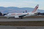 "TS-IOQ Boeing B737-6H3 B736 - TAR ""Bizerte"" (32307416474).jpg"