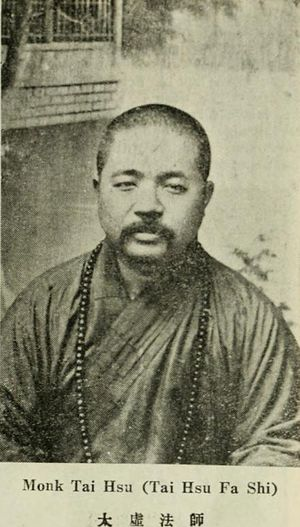 Taixu - Photo of Taixu from a book published in 1933