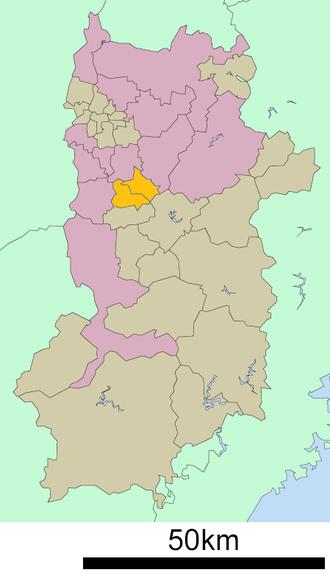 Takaichi District, Nara - Location of Takaichi District in Nara Prefecture