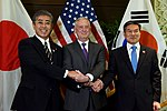 Takeshi Iwaya, James Mattis and Jeong Kyeong-doo 181019-D-BN624-015 (31543142808).jpg
