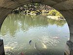Takueichi Pond from Kokokyo Bridge in Shukkei Garden.jpg