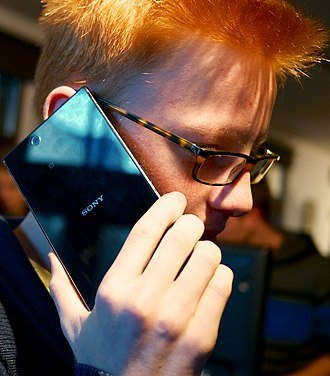 Phablet - Talking on a 6.4-inch phablet (Sony Xperia Z Ultra)
