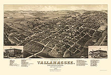 Vue de Tallahassee en 1885.