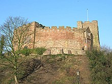Tamworth Castle in Tamworth, Staffordshire, England.