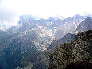 Tatras view from Rysy, Poland/Slovakia