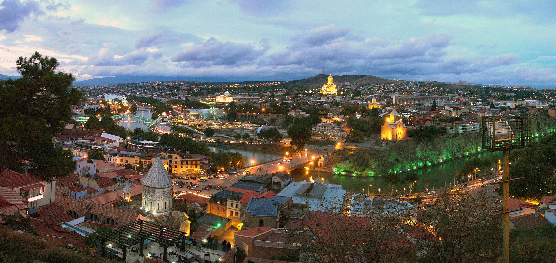 Centro histórico de Tbilisi.
