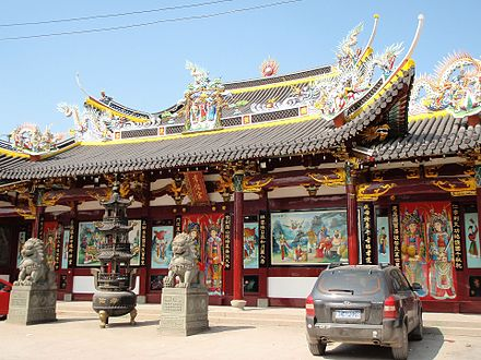 Temple of the Filial Blessing (Xiao You Gong Xiaoyougong) in Ouhai, Wenzhou, Zhejiang. It is a place for the worship of ancestors. Temple of the Filial Blessing in Ouhai, Wenzhou, Zhejiang, China (2).jpg
