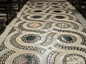 Cosmati - Floor in Cosmati style from the Cathedral at Terracina