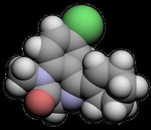 Tetrazepam - Image: Tetrazepam 3d