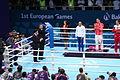 Teymur Mammadov at the awarding ceremony of the 2015 European Games.JPG