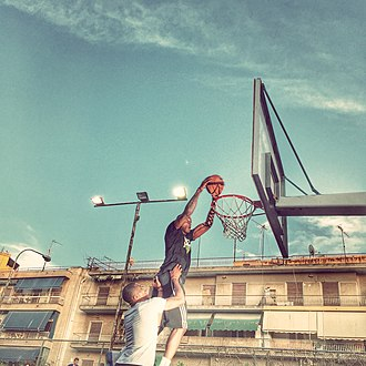 Thanasis Antetokounmpo - Giannis and Thanasis playing basketball at a local court in Sepolia, Athens.