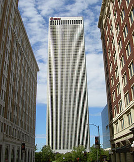 BOK Tower skyscraper in downtown Tulsa, Oklahoma, USA