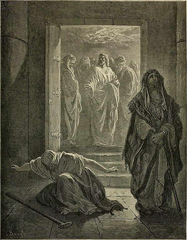 바리새인과 세리의 기도 (귀스타브 도레, Gustave Dore, 1866년)