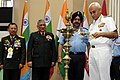 The Chairman, Chiefs of Staff Committee and Chief of Naval Staff, Admiral Sunil Lanba lighting the lamp at the inauguration of the 42nd ICMM World Congress on Military Medicine, in New Delhi.jpg