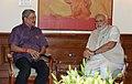 The Chief Minister of Goa, Shri Manohar Parrikar calling on the Prime Minister, Shri Narendra Modi, in New Delhi on June 10, 2014.jpg