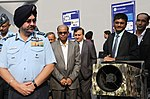 The Chief of the Air Staff, Air Chief Marshal B.S. Dhanoa visiting an exhibition after inauguration ceremony of seminar on Emerging Trends in Aviation Engineering and Logistics (AVIAMAT-2018), in New Delhi.JPG