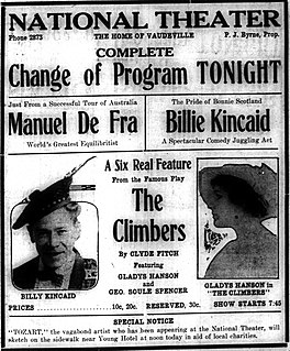 <i>The Climbers</i> (1915 film) 1915 film by Barry ONeil