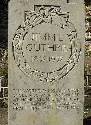 Jimmie Guthrie - Memorial plaque in Wilton Lodge Park, Hawick, Scotland